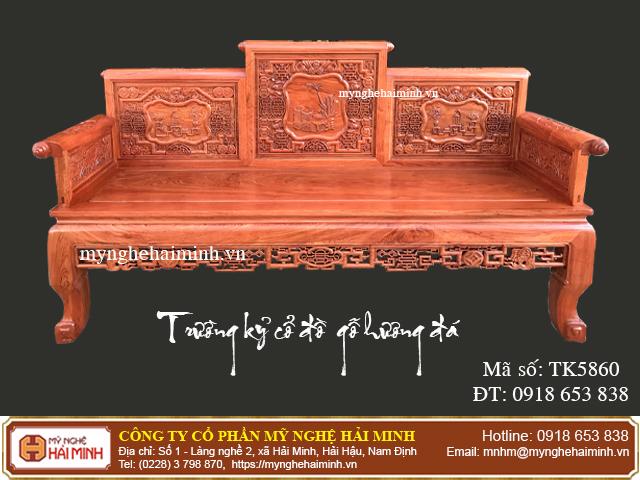 Trường kỷ cổ đồ gỗ hương đá - Mã số: TK5860 - 09