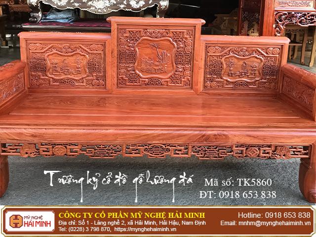 Trường kỷ cổ đồ gỗ hương đá - Mã số: TK5860